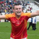 Mallow's Cian O'Riordan celebrates after a thrilling win in last weekend's County Premier Intermediate Football Championship Final over St. Michaels. Photo: Eric Barry