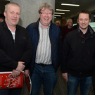 Attending the Cork GAA County Convention were Timmie Brosnan, Meelin, Pat Curtin, Freemount, John Lynch, Valley Rovers, and John O'Flynn, Freemount. Photo by John Tarrant