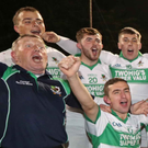 Kanturk celebrate after their win against Mallow in the County Premier Intermediate Hurling Final at Pairc Ui Rinn, Cork