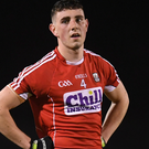 A dejected Sean Wilson of Cork after the EirGrid Munster GAA Football U21 Championship Final match between Cork and Kerry at Páirc Ui Rinn. Photo by Stephen McCarthy/Sportsfile