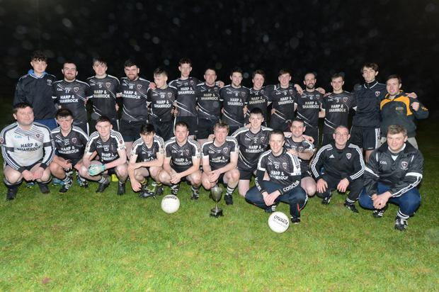 The Kiskeam team that won the Duhallow Junior B Football League title. Photo by John Tarrant
