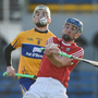 Robert O'Shea of Cork in action against Clare during the Co-op Superstores Munster Senior Hurling League match between Clare and Cork at Cusack Park in Clare. Photo by Diarmuid Greene/Sportsfile