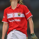 Ciara O'Sullivan of Cork reacts after a missed chance during the Lidl Ladies Football National League Division 1 match between Dublin and Cork at Croke. Photo by Piaras Ó Mídheach/Sportsfile