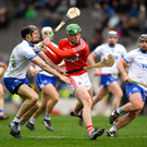 Robbie O'Flynn of Cork in action against Barry Coughlan of Waterford during the Allianz Hurling League Division 1A Round 4 match between Cork and Waterford at Páirc Uí Chaoimh. Photo by Eóin Noonan/ Sportsfile