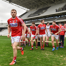 Cork players break away after the team picture the Allianz Football League Division 2 Round 4 match between Cork and Cavan at Páirc Uí Chaoim. Photo by Eóin Noonan /Sportsfile