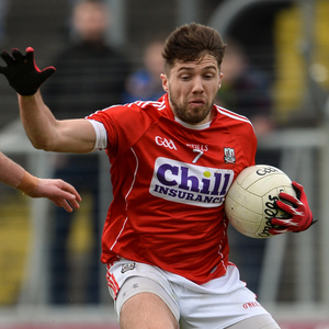Tomas Clancy of Cork in action against Graham Reilly of Meath during the Allianz Football League Division 2 Round 5 match between Meath and Cork at Páirc Tailteann in Navan. Photo by Oliver McVeigh/Sportsfile