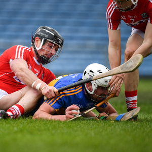 Patrick Maher of Tipperary in action against Colm Spillane of Cork during the Allianz Hurling League Division 1A Round 5 match between Tipperary and Cork at Semple Stadium in Thurles. Photo by Sam Barnes/Sportsfile
