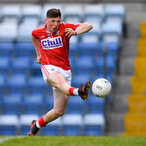 Killian Murray Myer of Cork scores his side's first goal of the game during the Eir Grid Munster GAA Football U20 Championship quarter-final match between Cork and Tipperary at Páirc Uí Rinn. Photo by Eóin Noonan /Sportsfile