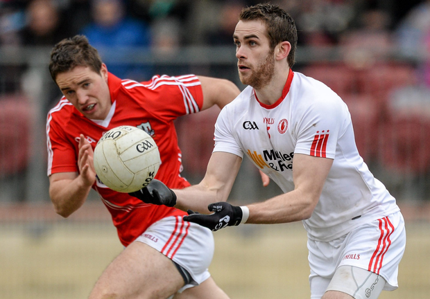 Cork's Colm O'Neill in action against Tyrone in Omagh during a National Football league match in 2015