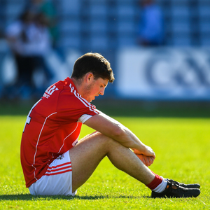 A dejected Kevin Crowley of Cork after the GAA Football All-Ireland Senior Championship Round 4 between Cork and Tyrone at O'Moore Park in Portlaoise. Photo by Brendan Moran/Sportsfile