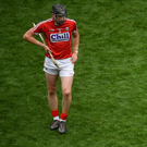 Cork players Damien Cahalane, left, and Bill Cooper react at the final whistle of extra-time All-Ireland SHC semi-final match between Cork and Limerick at Croke Park. Photo by Sportsfile