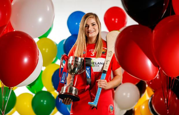 Cork captain Sarah Harrington pictured ahead of this weekend's All Ireland intermediate camogie final. Photo by Inpho