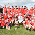 Dromtariffe celebrate a historic first time victory in the E Tarrant & Sons Duhallow JAHC Final at Freemount. Picture John Tarrant