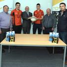 Pictured ahead of Duhallow's engagement against Castlehaven in the Co. SFC semi final were Seán McAulliffe, PRO, Duhallow Junior Board; Dan Denehy, Treasurer; Eoghan McSweeney; Pat Sheehan, CEO, North Cork Co-Op; Anthony O'Connor (captain), Tony McAulliffe, Secretary; Rory O'Callaghan, North Cork Co-Op and Padraig Kearns, Manager, Duhallow senior footballers. Photo by John Tarrant