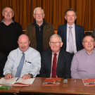 Attending the Duhallow GAA Convention in Millstreet were Front Row: Tom Dennehy (President); Tony McAuliffe(Secretary), Joe Kerins (Chairman), Dan Dennehy (Treasurer); Sean McAulliffe (PRO), Liam Buckley, Cultural Officer; Back Row: Jerry Walsh (Outgoing Co. Cultural Officer); Denis Lane, CCC; Richard Murphy (Incoming Co. Cultural Officer); Frank Barry, CCC; Donal Leahy, Co. PRO. Picture John Tarrant