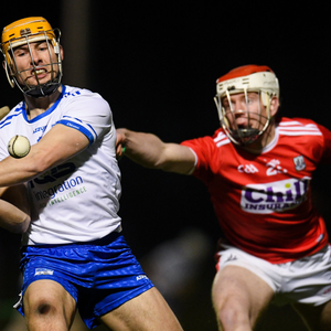 Thomas Ryan of Waterford in action against Conor O'Callaghan of Cork during the Co-Op Superstores Munster Hurling League 2019 match between Cork and Waterford at Mallow GAA Grounds. Photo by Eóin Noonan / Sportsfile