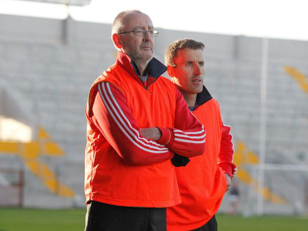 Charleville manager John Moloney and selector Ben O'Connor. Photo: Eric Barry