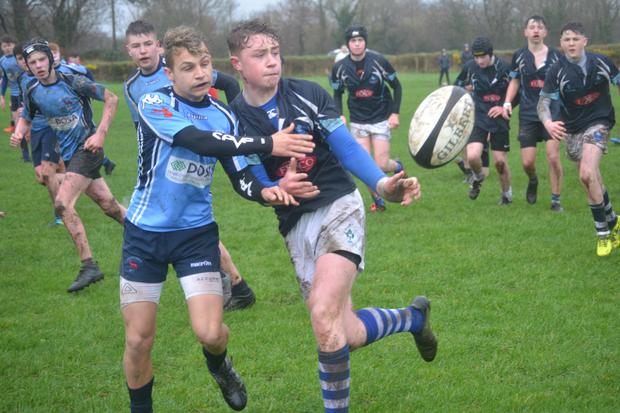 Action from the Muskerry Under 16s' clash with Killorglin last weekend