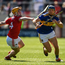 Jason Forde of Tipperary in action against Niall O' Leary of Cork during the Munster GAA Hurling Senior Championship Round 1 match between Cork and Tipperary at Pairc Ui Chaoimh in Cork. Photo by Diarmuid Greene/Sportsfile