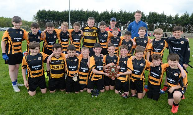 Ballyhass NS celebrated their success at the Duhallow Schools Finals
