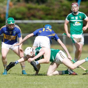Action from last Sunday afternoon's Cavanaghs of Fermoy Division 1 Hurling League clash between Harbour Rovers and Kilshannig in Glanworth. Photo: Eric Barry