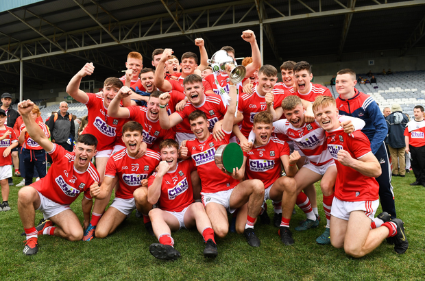 Cork celebrate after the EirGrid GAA Football All-Ireland U20 Championship Final