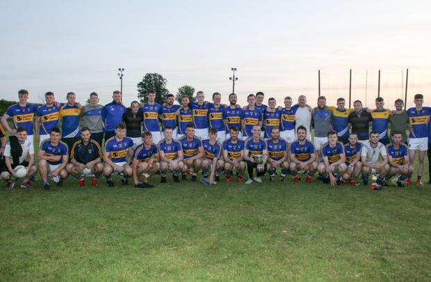 The Kilshannig squad that won the Cavanagh's of Fermoy Division 1 Football League after defeating Fermoy in last week's Final in Shanballymore. Photo: Eric Barry