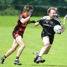 The jersey of Kiskeam's Conor Noonan tested against Newmarket in the Duhallow JBFC semifinal at Ballydesmond. Photo by John Tarrant