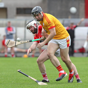 Kevin Hallassey, Éire Óg and Garry Lehane, Mayfield in action during their County IHC Round 3 clash in Páirc Uí Rinn on Saturday evening. Photo by Jim Coughlan