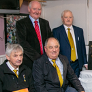Members of the Avondhu GAA board along with Pat Horgan, Development Officer, Sinead and Diarmuid Gowan and Councillor Frank O'Flynn at last week's Avondhu GAA Convention and plaque unveiling for Derry Gowan at Fermoy GAA clubhouse