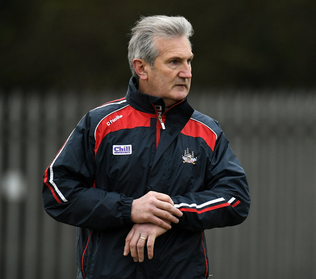 Cork manager Kieran Kingston prior to the Coop Superstores Munster Hurling League 2020 Group B match between Waterford and Cork at Fraher Field in Dungarvan. Photo by Eóin Noonan / Sportsfile