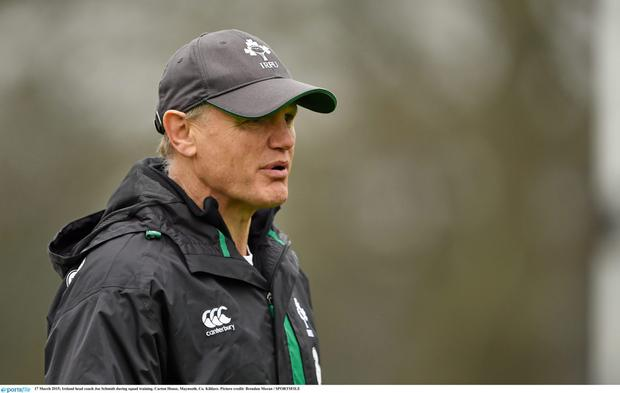 Ireland head coach Joe Schmidt during squad training