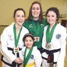Conni Vaughan, Kayla Murphy, Caraiosa and Aoife Foley, from Millstreet Taekwondo club, who won medals at the European Championships in Budapest Photo: John Tarrant