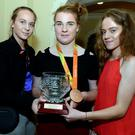 Paralympic bronze medallist Noelle Lenihan pictured with her sisters Eimear and Megan after receiving the Cork City and County Youth Sports Star Award in the Metropole Hotel, Cork. Photo by John Tarrant