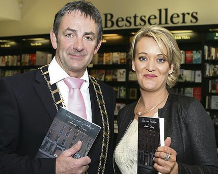Mayor Richie Culhane with Fiona Dennis at the launch.