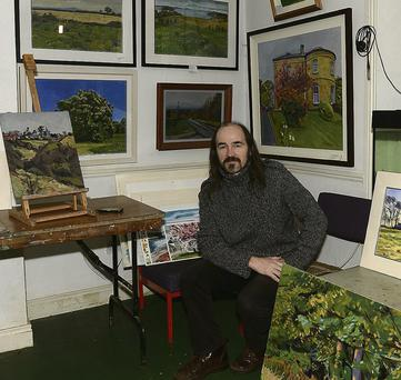 Local artist Richard Moore at his studio on the Dublin Road.
