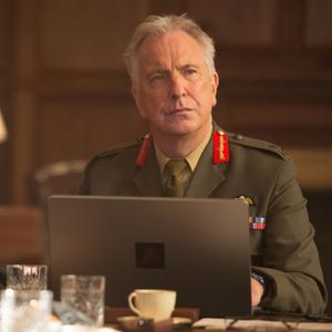 In his last film, Alan Rickman delivers yet another tightly coiled performance