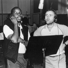 Philip Bailey and Phil Collins in the studio