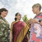Lt Col Mary Carroll, Ms Vijay Thakur Singh, Indian Ambassador to Ireland, and Tracy Piggott.