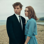 Billy Howle and Saoirse Ronan as Edward and Florence in On Chesil Beach