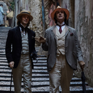 Colin Morgan as Lord Alfred Douglas and Rupert Everett as Oscar Wilde in The Happy Prince.