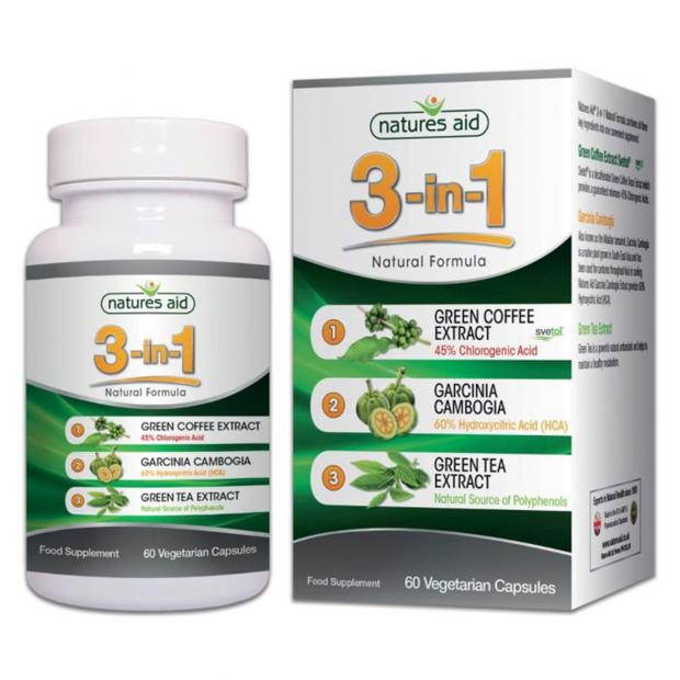 Natures Aid 3-in-1 contains 3 key ingredients associated with weight control.