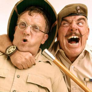 Don Estelle and Windsor Davies in 'It Ain't Half Hot Mum'.