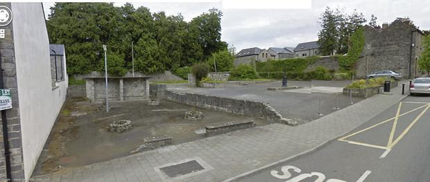 The proposed site for the community garden in Slane.