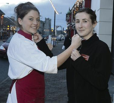 Laura Mathews, Callaghan's Butchers and Deli, and Felicity Carroll from SuperValu who will be representing their respective businesses in the Friendliest Business in Ardee awards