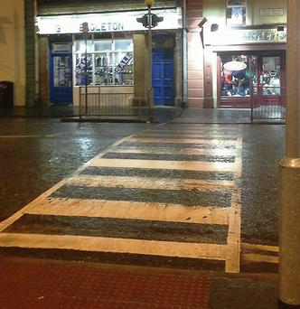 The controversial crossing in Ardee.
