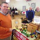 Aidan Hodgers, from the Drogheda Men's Shed, with a sample of their work at the scouts event in the Special Olympics hall last Sunday. The Men's Shed showroom is open, Monday to Friday, 9-3pm and they'll be on West Street on Friday next