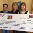 Bernice Sands and Eire Duffy presenting a cheque to Gary Kelly Centre's Ann Tracey. The monies were raised from a very successful Coffee Morning on December 29th in Dunleer