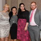 Linda Giles, Sabrina Bellew, Ardee Rose Jackie G and Sean Murphy at the Ardee Traders annual awards night in the Nuremore Hotel