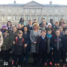 Students from Scoil Bhride NS, Dunleer visit Leinster House with Senator Mary Moran